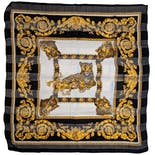 Ornate Gold and Black Cheetah Scarf
