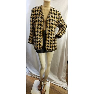 Oversized Houndstooth Blazer by Browstone