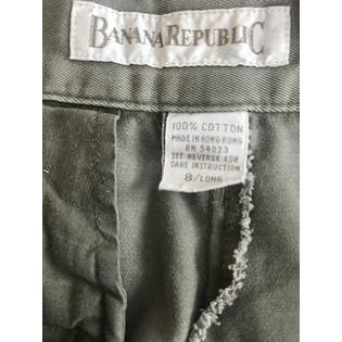 90's Green High Waisted Straight Pant by Banana Republic