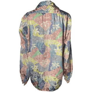 Pastel Multicolor Floral and Gridline Blouse by All Hours