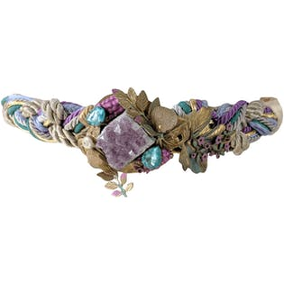 Pastel Mystical Braided Belt with Quartz by Carolyn Tanner Designs Inc.