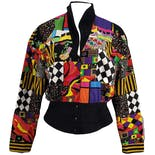 Patchwork Printed Snap Up Jacket by Cache
