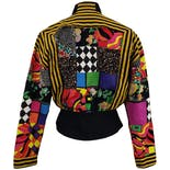 another view of Patchwork Printed Snap Up Jacket by Cache
