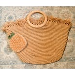 another view of Pineapple Surprise Woven Tote Bag
