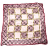 Pink Plaid Italian Square Scarf