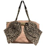Pink Purse with Leopard Bow by Betsey Johnson
