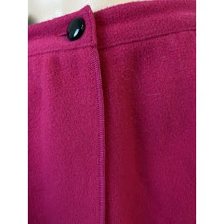 80's Pink Wool Midi Wrap Skirt