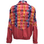 another view of Pink and Multicolor Abstract Printed Windbreaker by Tail