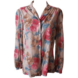 Pink Floral Button Up Blouse by Ship 'n Shore