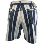 another view of Blue and White Denim Striped Shorts by Lee