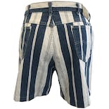 another view of Blue and White Denim Striped Shorts