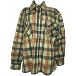 70's Lord James Green Plaid Flannel Long Sleeve Jacket by Lord James