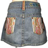 Pocket Detail Denim Mini Skirt by Coogi