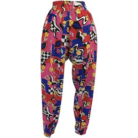 Abstract, Checkered and Floral Print Multicolor Jogger Pants by The Body Co.