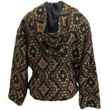 another view of Printed Jacket with Hood and Cinched Waist by Byblos