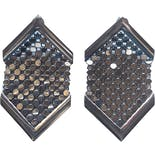 Silver Metal Mesh Disco Earrings