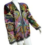 80's Deadstock Limited Edition Couture Psychedelic Beaded Jacket by Diane Freis