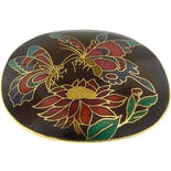 70's Butterfly Cloisonné Belt Buckle