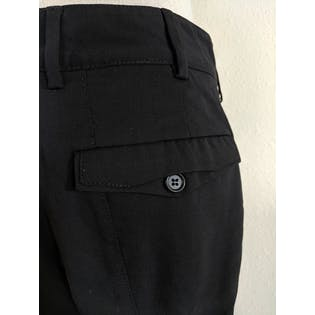 Black Trouser with Buttoned Back Pockets by Prada