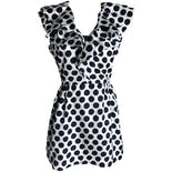 50's Mini Polka Dot Ruffle Dress