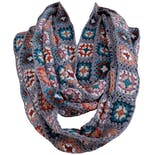 Crochet Infinity Scarf with Bright Floral Pattern by Chan Luu