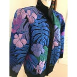 another view of 80's Avant Garde Silk Floral Jacket