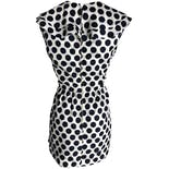another view of 50's Mini Polka Dot Ruffle Dress