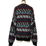 another view of 80's/90's Pattern Stripe Acrylic Sweater Nwt by Botany 500
