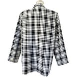 another view of 80's Black and White Lightweight Plaid Blazer by Graff Californiawear