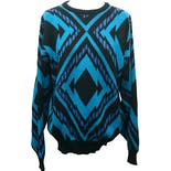 90's Geometric Pullover Sweater by Koman