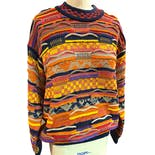 80's Total Dad Sweater Coogi Knit Rainbow Sweater by Coogi