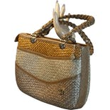 Tan Summer Straw Handbag by Pier Giorgio