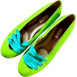 00's Lime Green Ribbon Flats