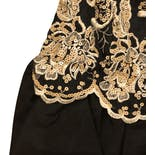 another view of 70's Black and Gold Sequin Dress by Gunne Sax