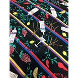 another view of 90's Silk Vodka Martini Scarf by Nicole Miller