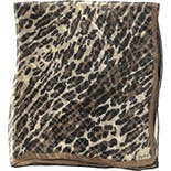 Sheer Leopard Print Scarf by Vera