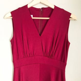 70's Burgundy Red Disco Capelet Dress by Miss Elliette California