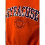 another view of 90's Syracuse University Orange Crewneck Sweatshirt by M.j Soffe