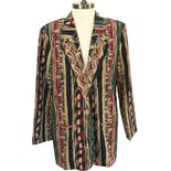 90's Abstract Stripe Blazer by Toni Garment for CC Magic