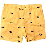 60's Yellow Whale Embroidered Shorts
