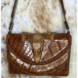 another view of 40's Genuine Baby Alligator Taxidermy Purse