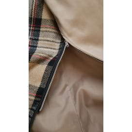 80's Tan with Plaid Removable Liner Trench Coat by London Fog