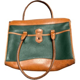 Classic Green and Brown Leather Purse by Dooney And Bourke