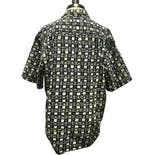 another view of 90's Short Sleeve Abstract and Geometric Black Shirt by Pierre Cardin