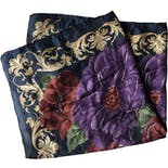 another view of 80's Classic Floral Silk Scarf