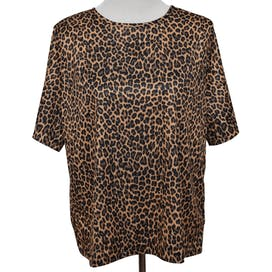 80's Animal Print Silky T-Shirt by Blair