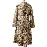 another view of 60's Faux Fur Cheetah Print Double Breasted Trench Style Coat by Safari By Fairmoor