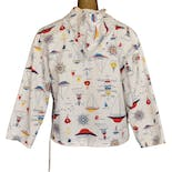 another view of 60's Nautical Print Womens Popover Jacket by Vintage