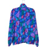 another view of 90's Multi-Color Abstract Jacket by Teddi