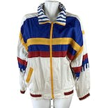 80's Blue Gold Red Full Zip Nautical Windbreaker Jacket by Misty Valley